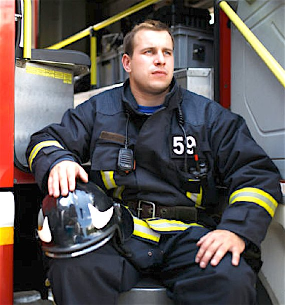 Norfolk, Virginia firefighter, Scott Phillips-Gartner
