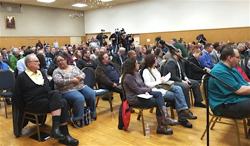"Braving winter storm weather about 175 people gathered Feb. 11 at the Jewish Federation of Harrisburg for Lt. Governor John Fetterman's ""listening tour"" on legalizing marijuana in Pennsylvania. ""It's time to honest about marijuana. Make it legal,"" offered one individual who requested anonymity. Most speakers favored legalization. Setting the tone for public meetings in his statewide tour, Fetterman began the discussion by explaining ""my thoughts on this don't matter,"" adding ""there will be no cheering, there will be no booing, we will treat each other with respect."""