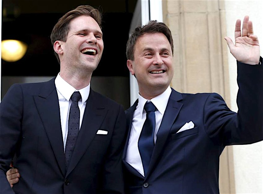 Xavier Bettel and his husband, Gauthier Destenay.