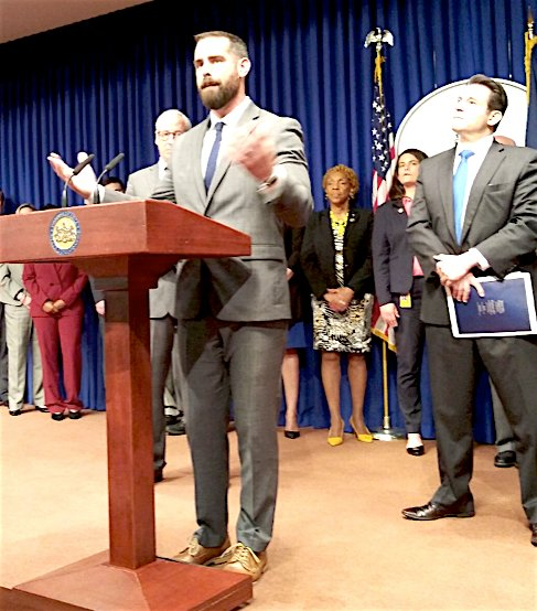 Openly-gay PA State Rep. Brian Sims, 182nd District, addressing the urgent need for LGBT protections.