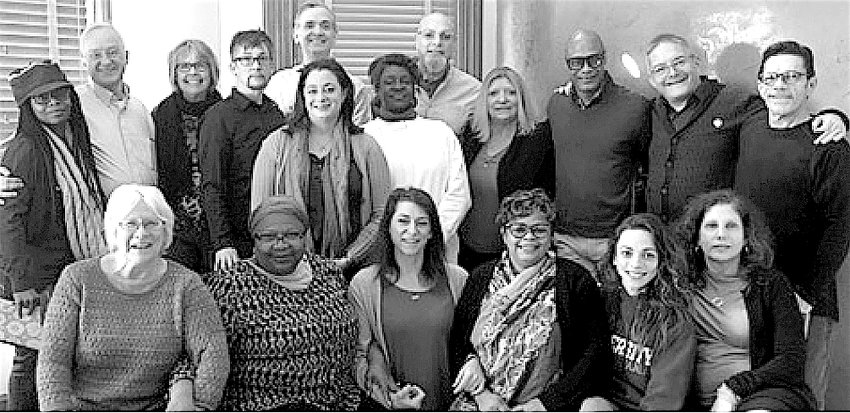 Eighteen individuals met in late February at the Hotel Fauchere Meeting Center in Milford, PA, to form the Pennsylvania HIV Justice Network. Front row, from left: Susan Mull, Waheedah Shabbaz-El, Michelle Kohler, Teresa Sullivan, Brenda Goodrow, Rhonda Goldfein. Back row, from left: Andrea Johnson, Kevin Burns, Barbara Whitney, Adrian Lowe, Julie Graham, Sean Strub, Gail Thomas, Heshie Zinman, Cindy Stine, Jeff Haskins, Chris Bartlett and Central Voice publisher Frank Pizzoli.