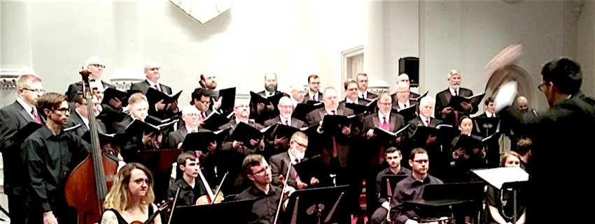 Presented in LGBT- friendly Market Street Presbyterian Church May 11, Two Boys Kissing brought together a diverse community of 200+ to hear the choral work that combines history and current affairs. The chorus has  two remaining free performances: May 17, 7 p.m. at St. Peter's Lutheran Church, Middletown, and May 18, 7 p.m. at Union Lutheran Church, York.