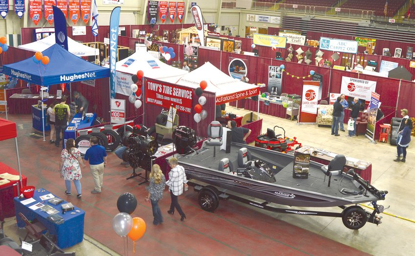 THIS YEAR'S Home & Garden Show has been delayed to March 2022, organizers announced. Due to restrictions in place to slow the spread of COVID-19, the number of exhibitors, volunteers and attendees would be dramatically reduced. This photo from 2018 shows part of the show's standard setup.