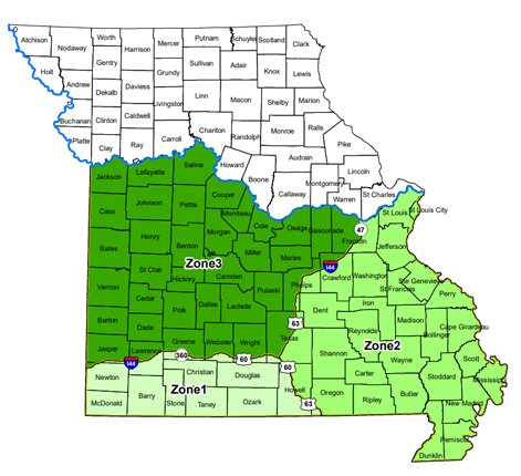 With most of the state's black bears found south of the Missouri River and primarily south of Interstate 44, MDC has established three Bear Management Zones in southern Missouri. Permit and harvest quotas are established for each zone.