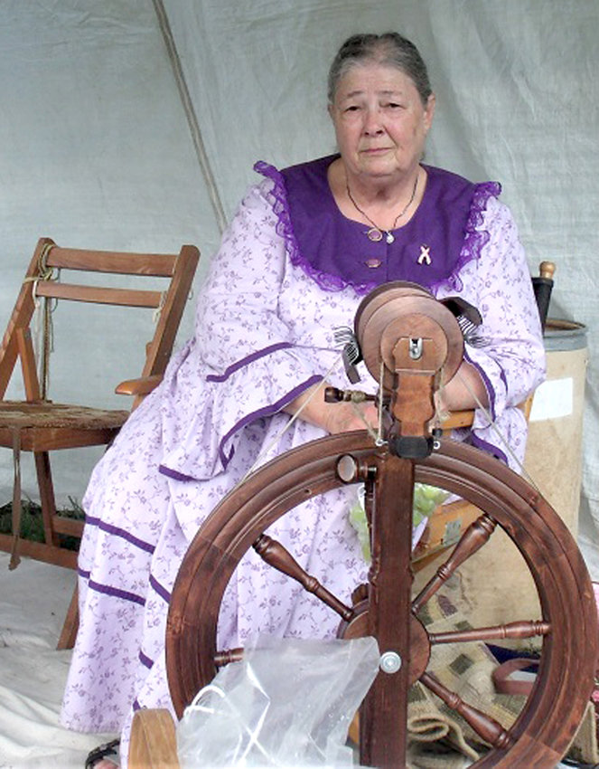 SPINNING YARN is just one of the long-standing Ozarks traditions on display during the Pioneer Heritage Festival. Exhibitors are encouraged to offer interactive demonstrations so that children can have an opportunity to learn the same skills, say organizers.