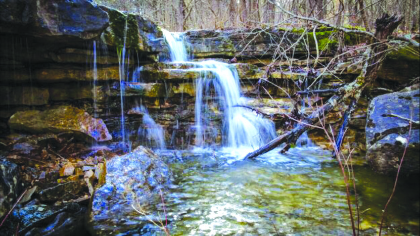 A SMALL, BUT BEAUTIFUL waterfall in the heart of the Devil's Backbone Wilderness.