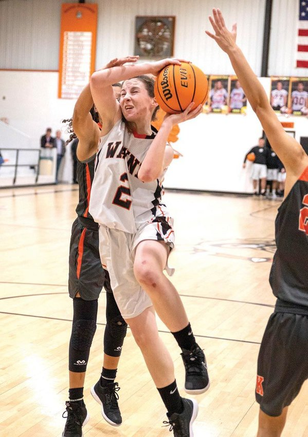 Kaylee Madden scored eight points during a 44-38 Wayne win over Konawa in overtime Friday night.