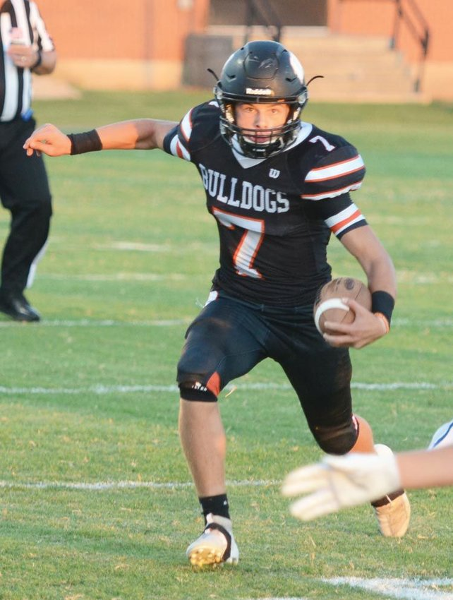 Ethan Mullins went off for a performance for the ages Friday night at Mounds when he rushed for 523 yards and eight touchdowns in Wayne's 69-49 win. He ran the ball 45 times and averaged nearly 12 yards per carry.