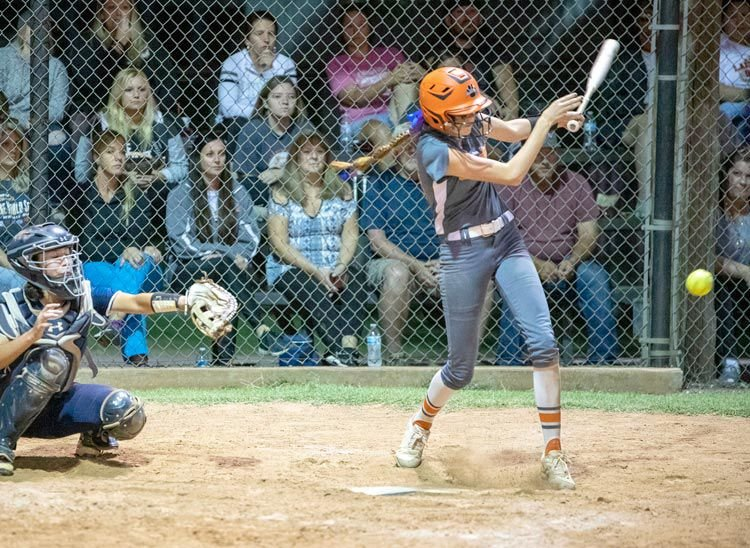 Lauren Beason gets all over a ball in the Regional tournament against Marlow during Lexington's 7-4 win. Lexington plays Washington today (Thursday) at 4 p.m. at the Ballfields at FireLake in the State tournament. See related story on page 1B