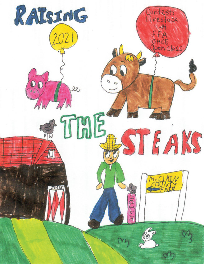 The above fair book cover design was drawn by Chance Moore from Wayne Elementary School. He was the winner of the elementary art contest at the 2019 fair.