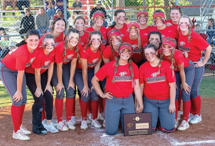 The Washington Warriors claimed the Regional championship after defeating Stroud 12-2 and Latta 15-5 in the tournament, which was played in Washington. The Warriors advanced to State after the wins. Please see full story on page 2B