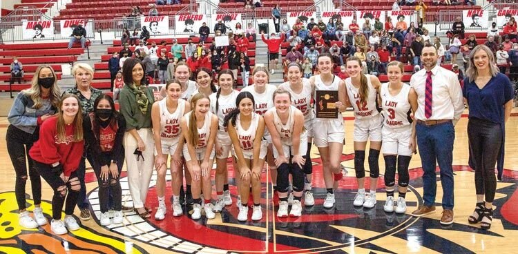 The Purcell girls claimed a District championship Monday after defeating Davis 33-32 at the Reimer Center. They advanced to Regionals where they play the winner of the Kingston-Marietta game at 6 p.m. today (Thursday) in Kingston.