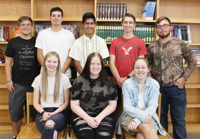 Among Lexington High School students vying for royal titles at Friday's homecoming game against Bridge Creek are, seated from left, Shea Smith, Abigail Carpenter and Bailey Hamm. Standing from left are Logan Hannabass, Israel Trejo, Miguel Trejo, Maxx Woods and Hunter Hervey.
