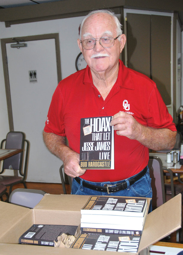 A shipment of Bud Hardcastle's new book about Jesse James came into Purcell late last week.