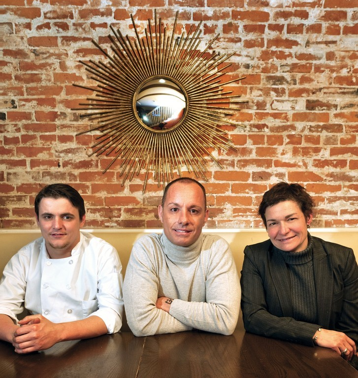 The DownCity team (L-R): Executive Chef James Bjurman, Owner Rico Conforti, Owner/General Manager Abby Cabral