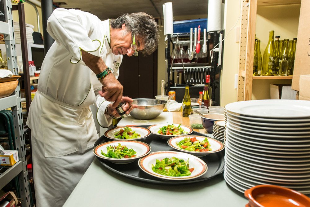 Chef Jaime D'Oliveira now cooks for the weekly culinary series at The Olive Tap