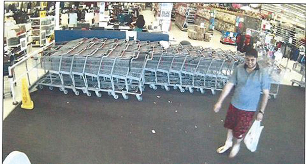 SUSPECT: This image taken from surveillance video shows the suspect in a recent shoplifting incident at Kmart.