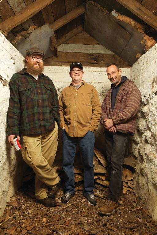 FarmDog bandmates Brett Haskins, Phil Wells and Lou Perrotti