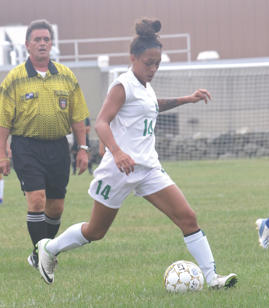 SCORING TOUCH: Warwick's Mercedes Faust accounted for all of her team's offense in CCRI's recent loss.
