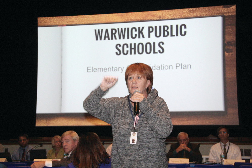 WE'VE WAITED LONG ENOUGH: School Committee chair Beth Furtado defended consolidation of elementary schools, saying the issue has been adequately studied and that savings from school closings would benefit schools overall.