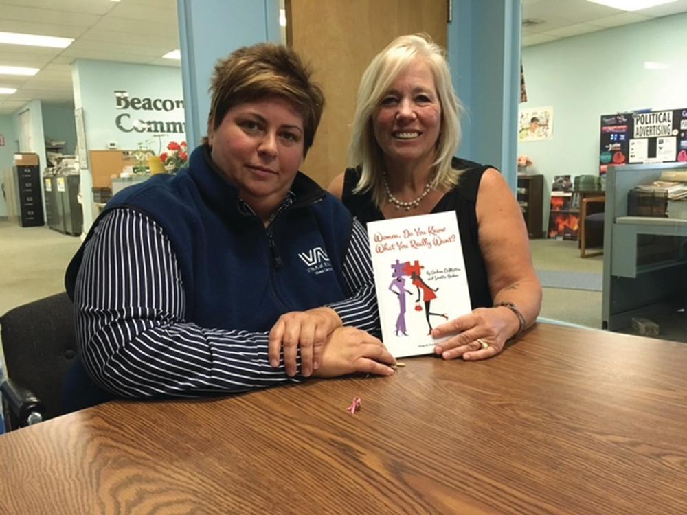 CO-AUTHORS: Andrea DiMattia (left) and Loretta Becker show off their new book.