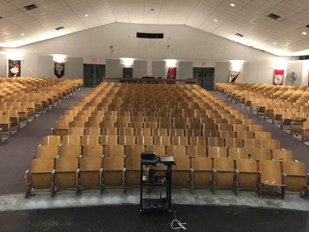 COMMUNITY SPACE: The 653-seat Cranston High School West auditorium is used by the entire Cranston community for major events, and is the focus of a fundraising drive by the Cranston West Alumni Association.
