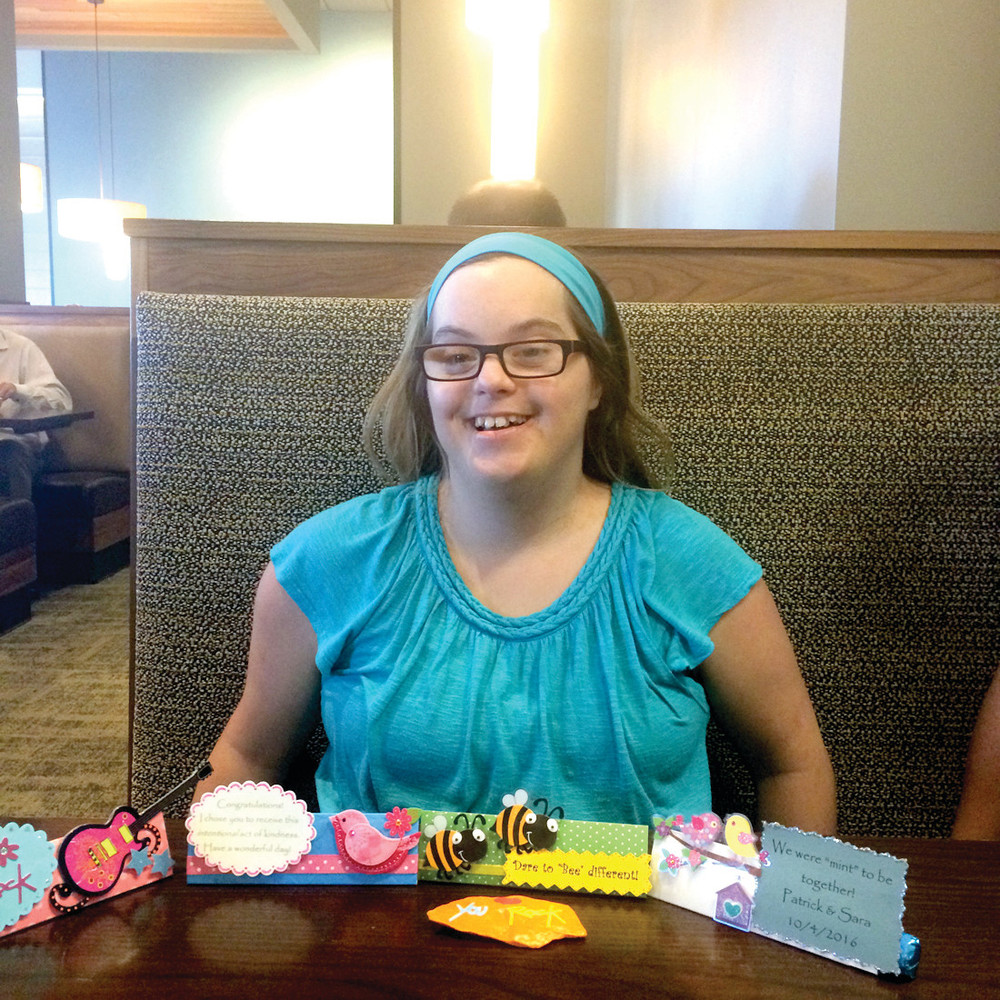 SHE ROCKS THE FAVORS: Stephanie Cerep proudly displays just a few of her favorite handmade favor designs.