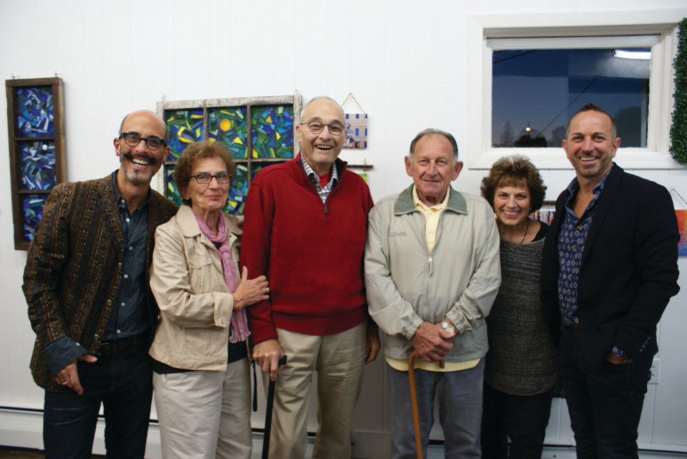 """ALL IN THE FAMILY: Pictured at TinTown Studios for the opening of """"Sensibility of Place"""" are owners Paul Carpentier and Dennis DelSignore with their parents, Mary and Peter Carpentier and Peter and Helen DelSignore."""