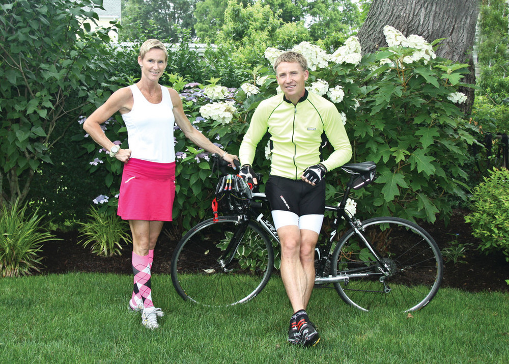 Mike and Alix Sarnowski model current trends in the sporting industry