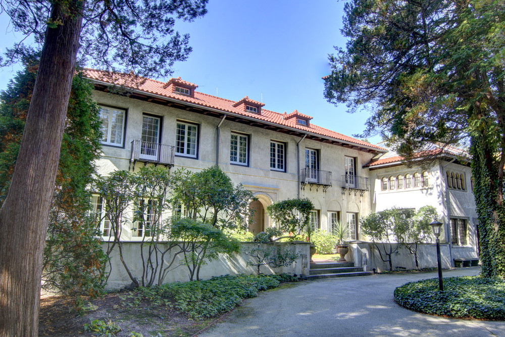A view of the main house on the 31⁄2 acre Granoff property