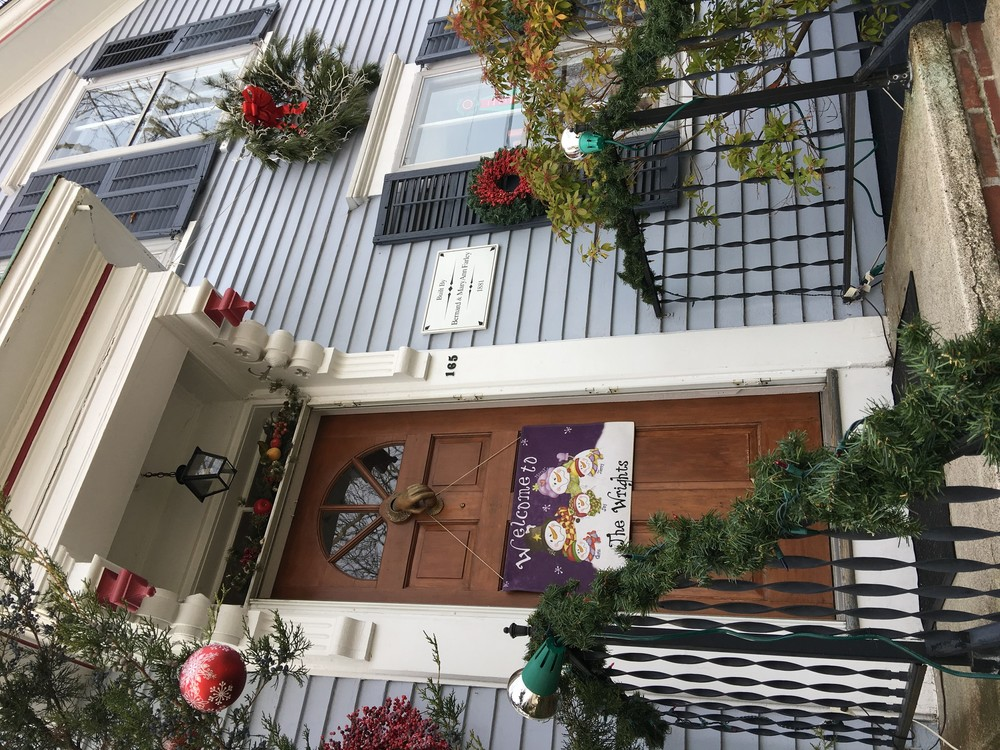 165 Wood St. was deemed the most festive front door in town.