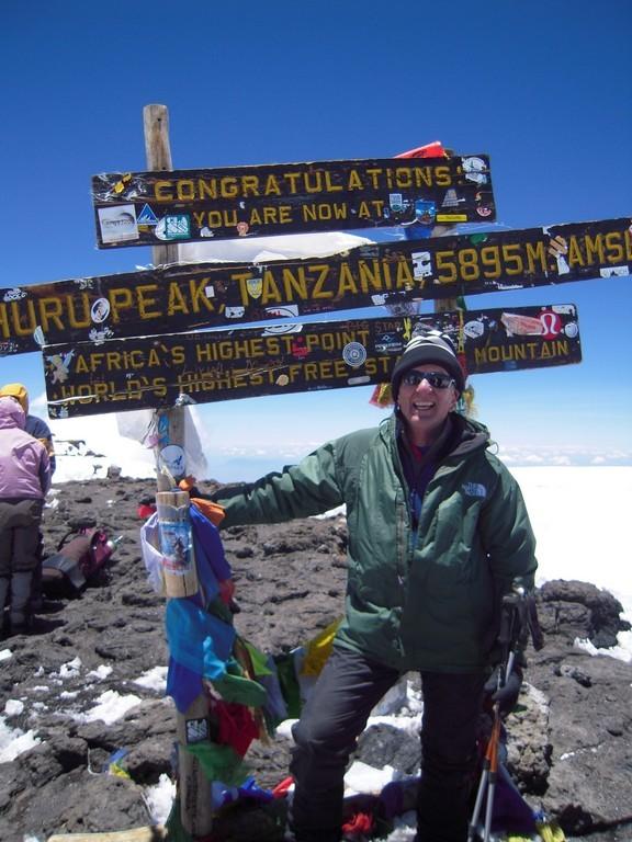 Don Schwartz atop Mt. Kilimanjaro