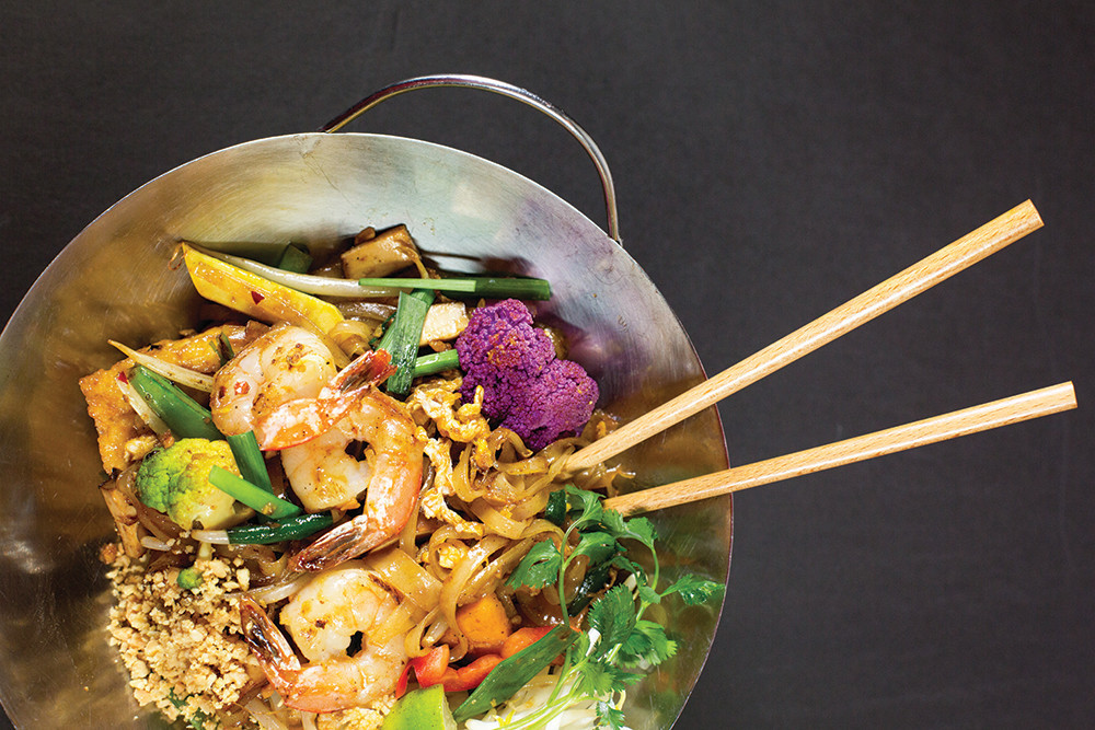 Bangkok Street Pad Thai with shrimp from Noodle Revolution in Westerly