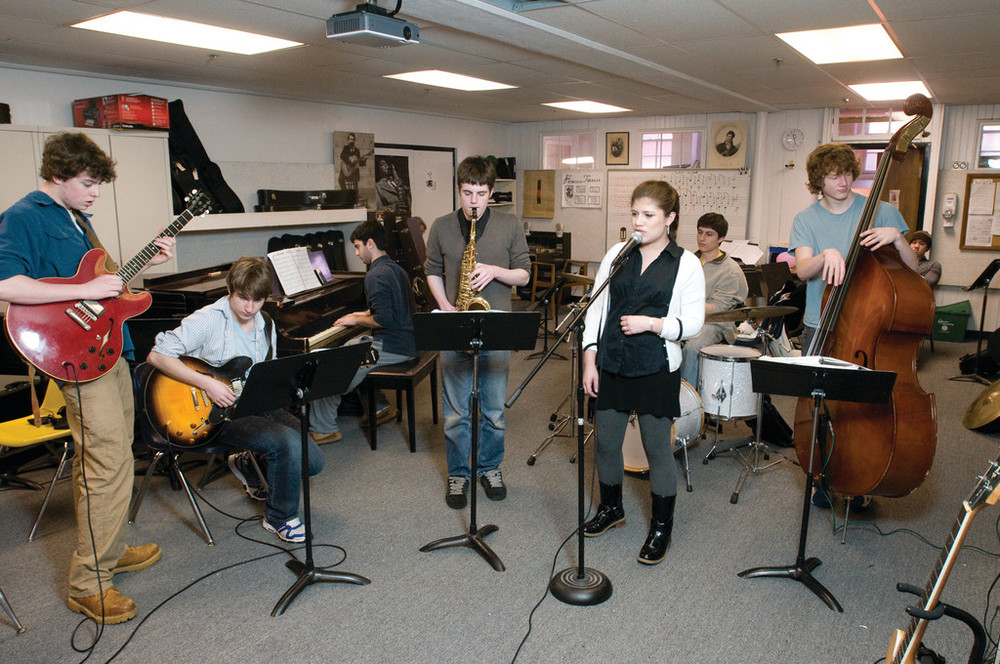 Students study jazz at the Wheeler School