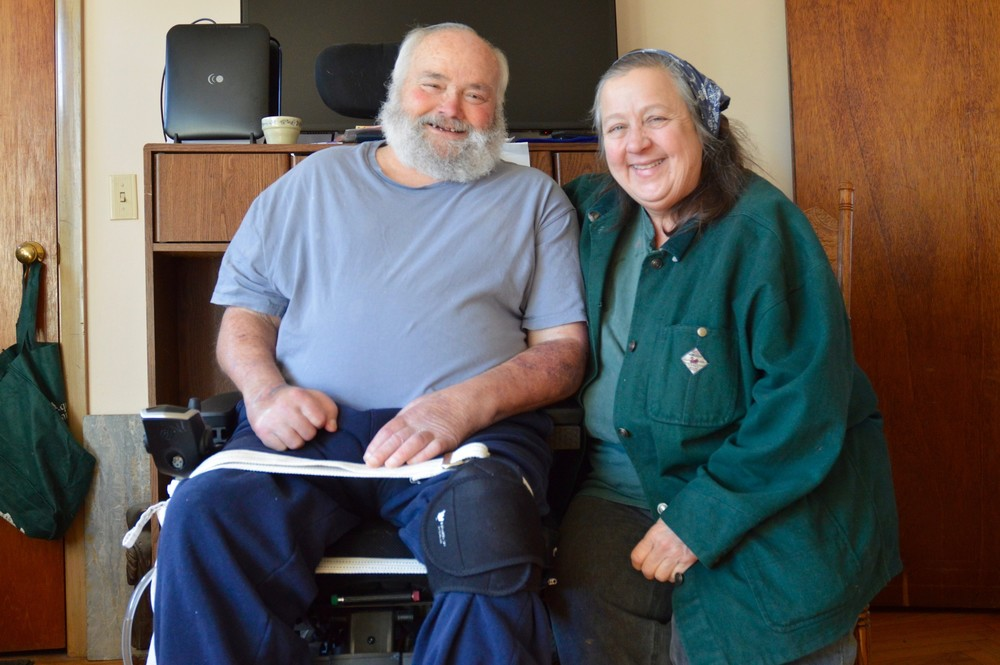 "Louis and Jane Escobar at their home at Escobar's Highland Farm on Tuesday. They're both featured in a new documentary, ""Forgotten Farms,"" that will be screened March 7 at Portsmouth Abbey."