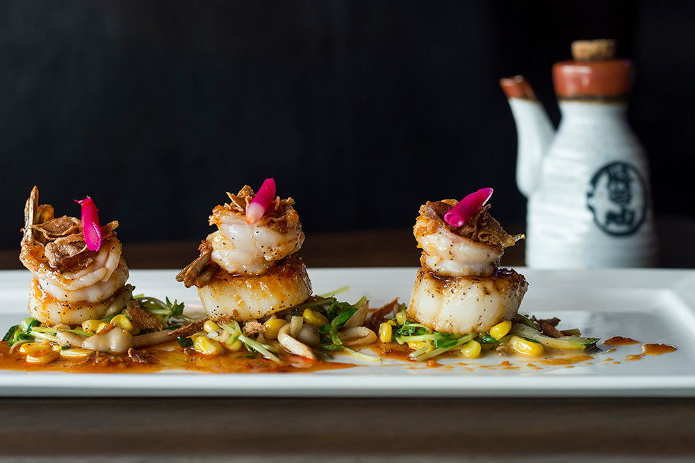 Shrimp and scallop with mixed veggies in XO sauce