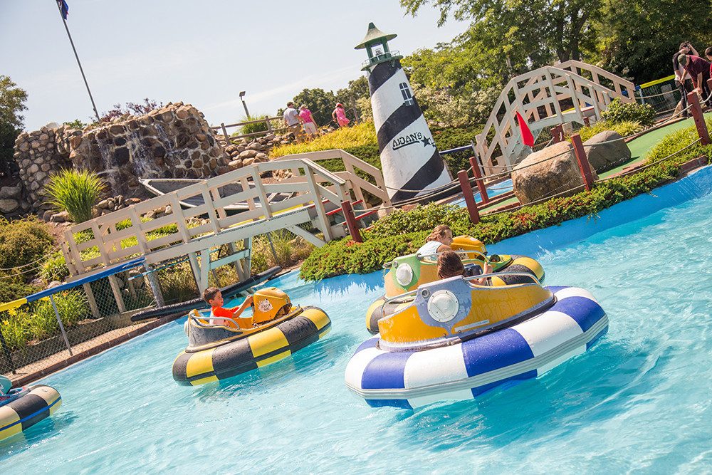 Splash it out on the bumper boats at Adventureland