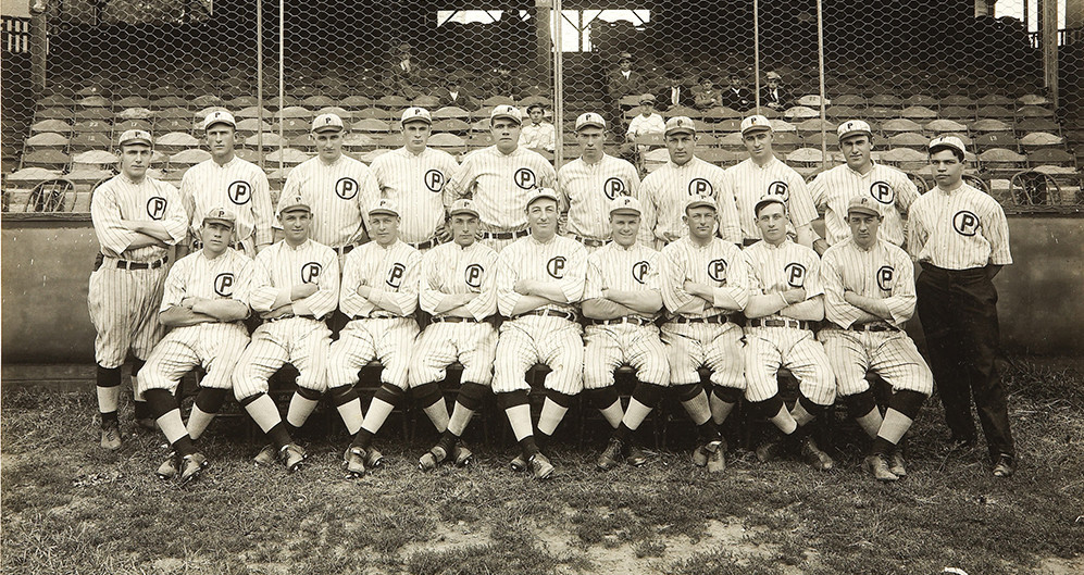 The 1914 Providence Grays, featuring a pre-fame Babe Ruth (back row, center)
