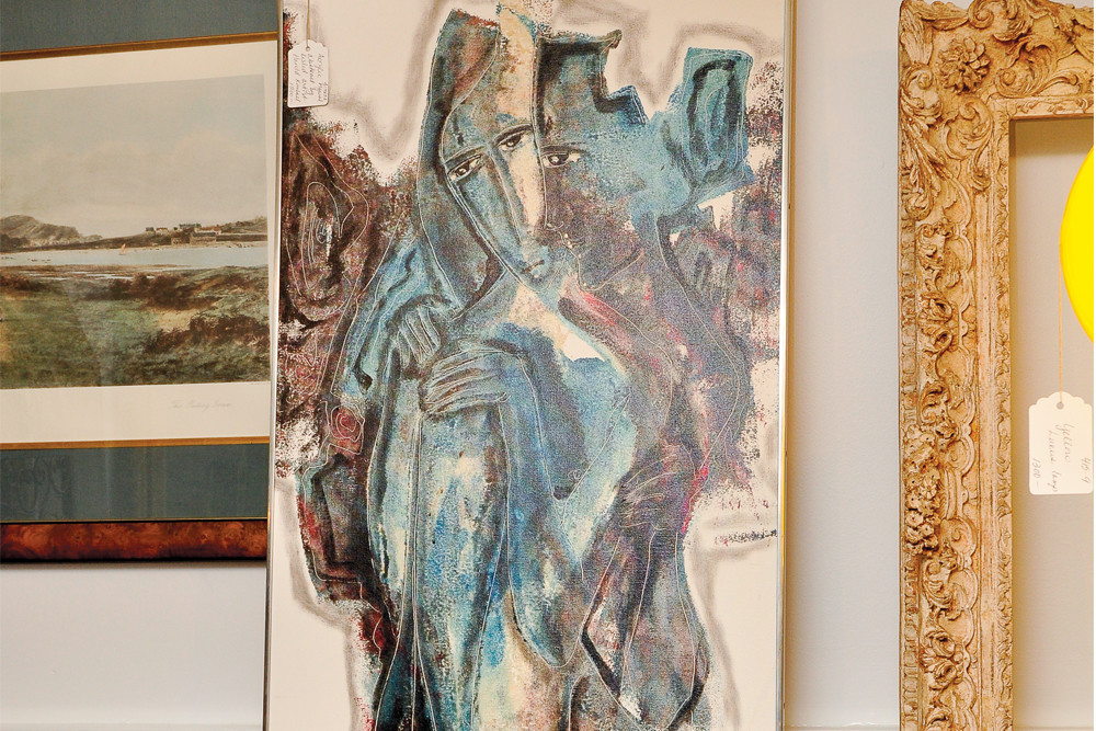Harold Kimball acrylic, $1500