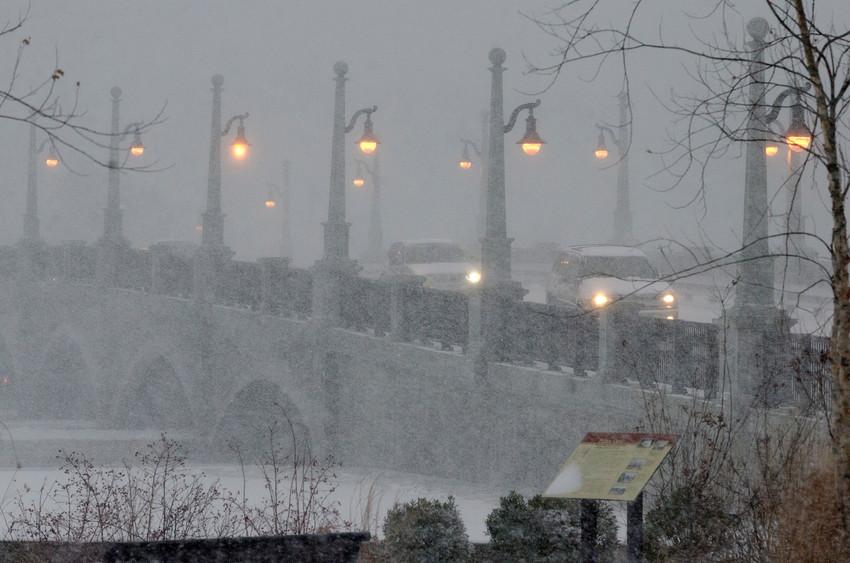A few drivers head over the Barrington Bridge on Thursday morning.
