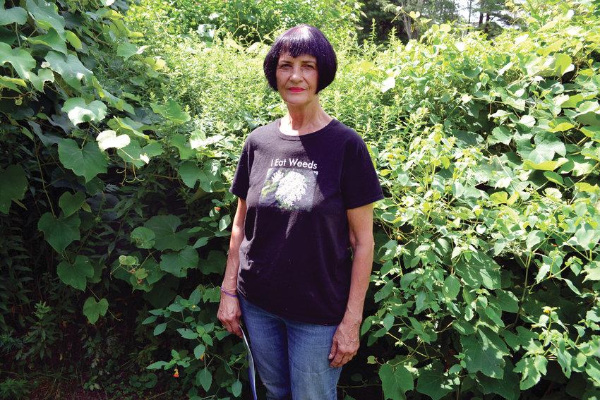 Karen Talbot in her garden.