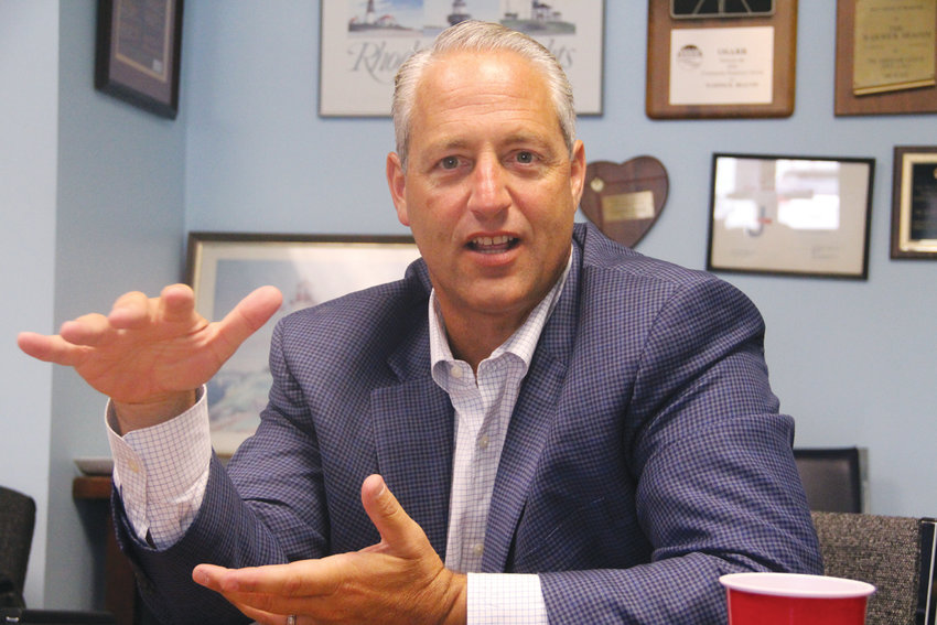 NOT A FAIR PLAY? Marc Crisafulli, president of Twin River Rhode Island, argues that the proposed deal to extend IGT's contract for 20 years is not in the best interests of the state or Twin River during a Tuesday interview.