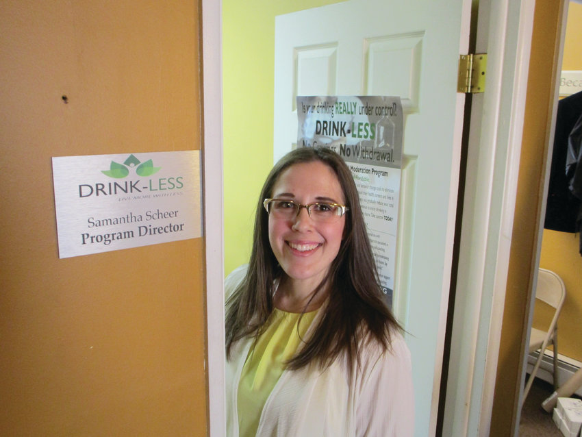 'TO HELP PEOPLE': Samantha Scheer, 29, has previously worked for Lifespan and CVS, as well as her own consulting firms. Now, she aims to assist people with alcohol dependency through the Drink-Less outpatient clinic in Cranston.