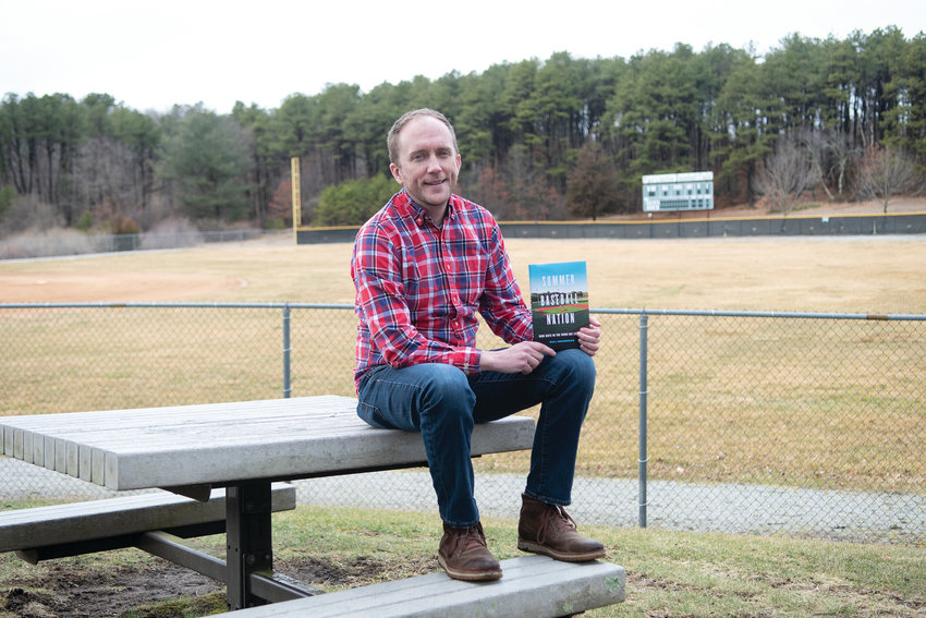 "Passion Project: Author William Geoghegan poses with his new book ""Summer Baseball Nation."""
