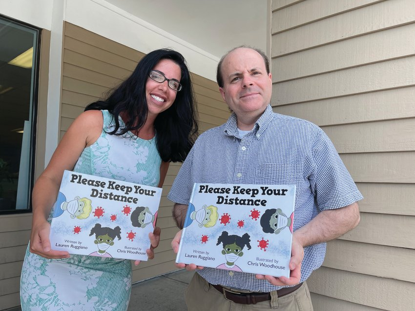 """'MEANT TO HAPPEN': The connection between author Lauren Ruggiano and illustrator Chris Woodhouse began online. Recently, their book, """"Please Keep Your Distance,"""" was released through Barnes & Noble."""
