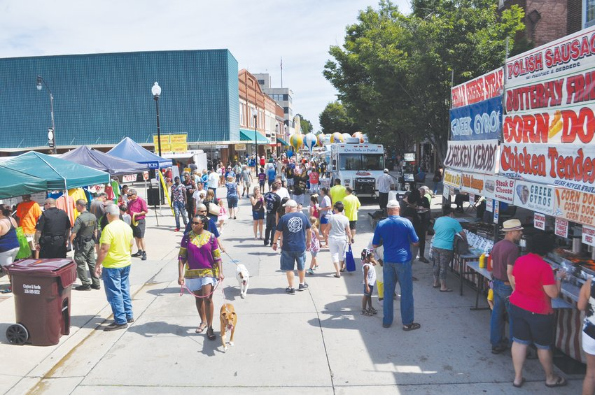 Last year's Personality Festival drew large crowds to Uptown Roxboro. The event celebrates its 40th anniversary this year.