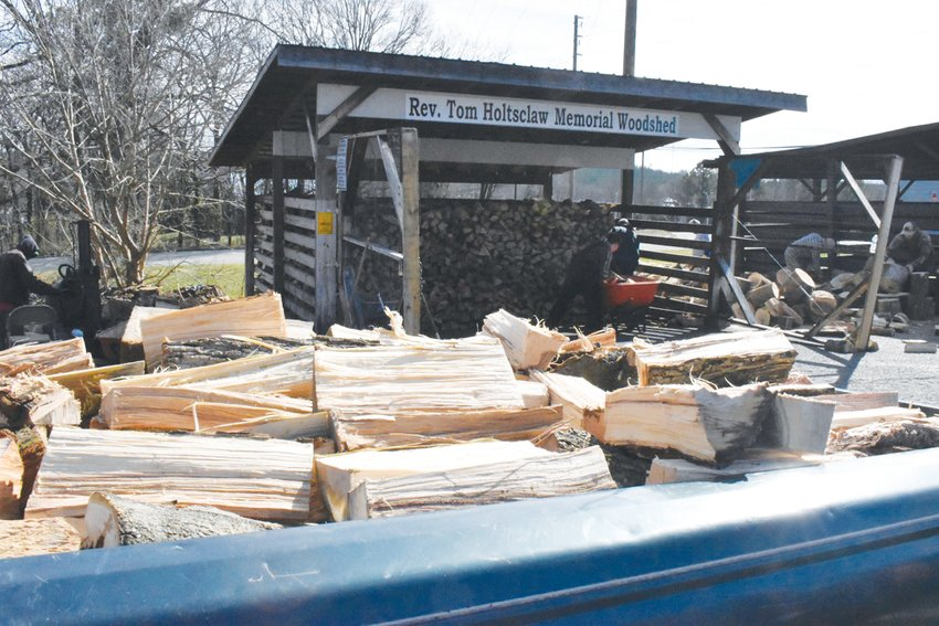 Members of the Woodchuck Lodge 476 cut 555 truckloads of wood last year. Their last workday this season will be March 14. Volunteers are welcome.