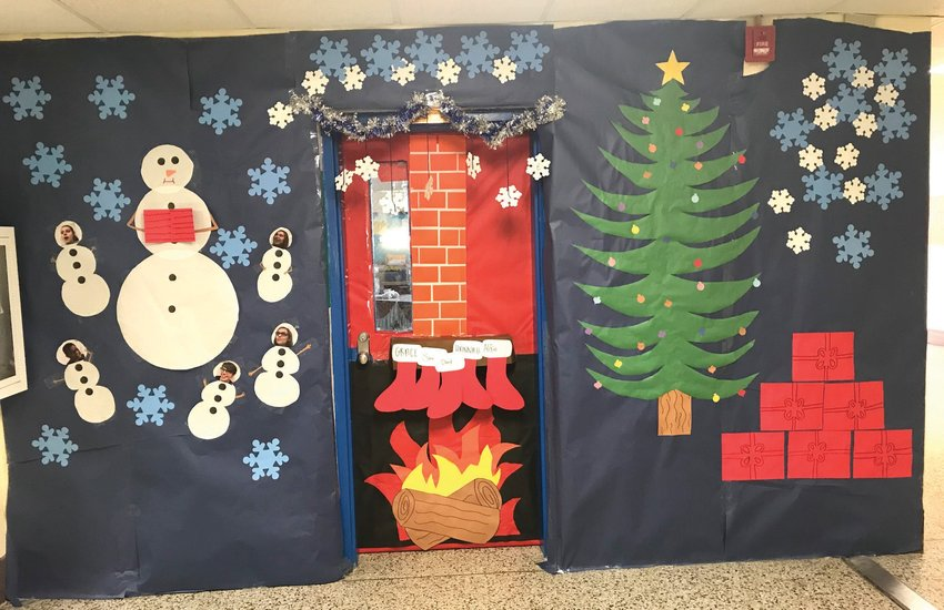Mrs. Bowers' door pictured here that her Teacher Cadet students designed and created. SUBMITTED