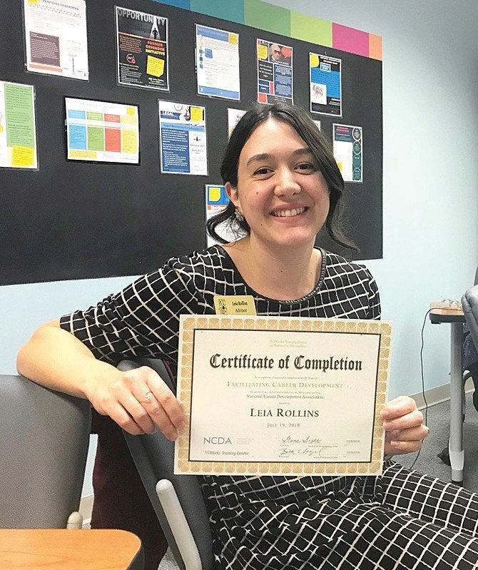 Leia Gaskin-Sadiku Rollins expects to be able to better serve students as they assess their career pursuits. SUBMITTED
