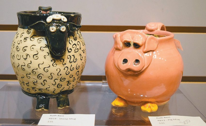 """Whimsical Pottery"" will be on display the entire month of August. SUBMITTED"